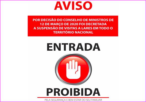 Visitas proibidas aos utentes dos Lares de Idosos por causa do Coronavírus