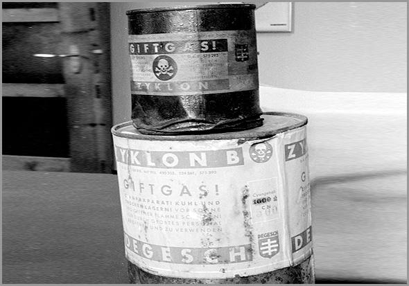 O gás Zyklon B foi usado nos campos de concentração nazis