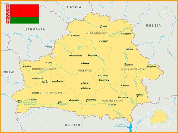 Mapa Bielorússia