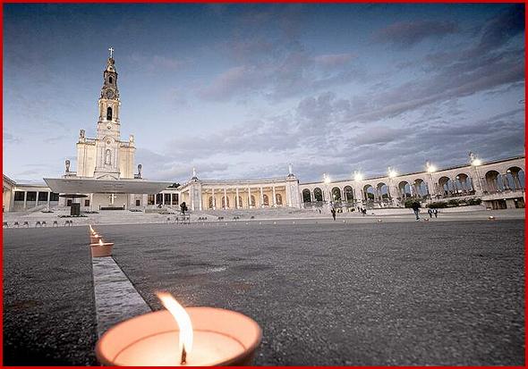 Santuário de Fátima no dia 13 de Maio de 2020. Imagens para a História (Foto. JN)
