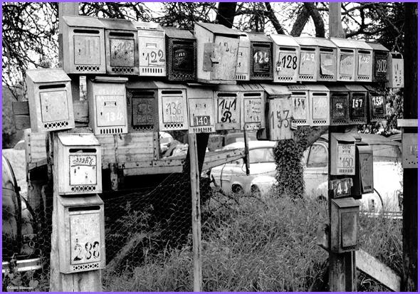 Caixas de Correio em Champigny (Foto: Gerard Bloncourt)
