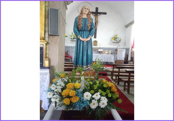 O andor de Santa Maria Madalena na festa em sua honra (Águas Belas, agosto 2019)