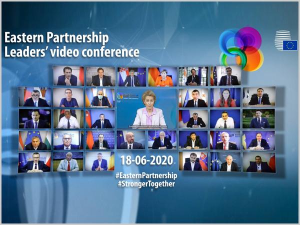 Conferência de líderes da União Europeia por videoconferência