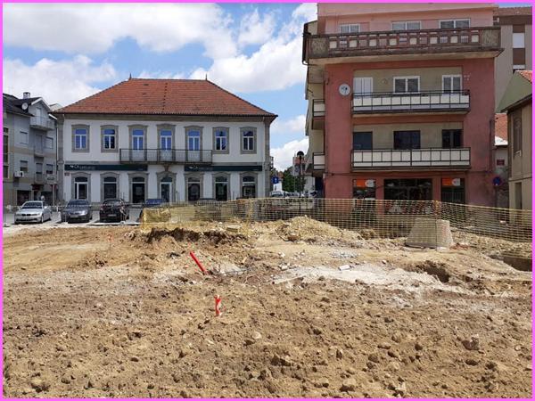 Já começaram as obras de requalificação do Largo da Fonte no Sabugal