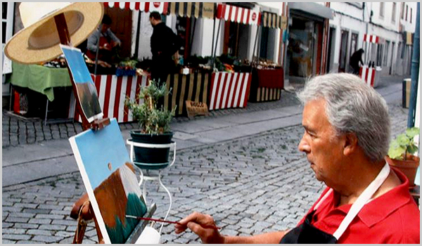 O pintor Francisco Silva Amaro