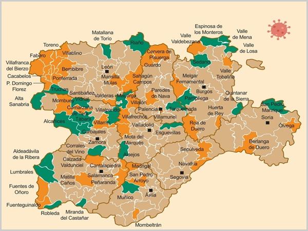 Mapa da Deputación de Castilla y León