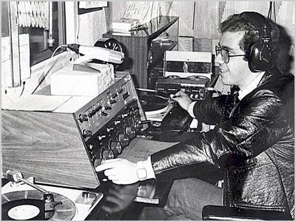 Estúdio da Rádio Altitude naqueles tempos