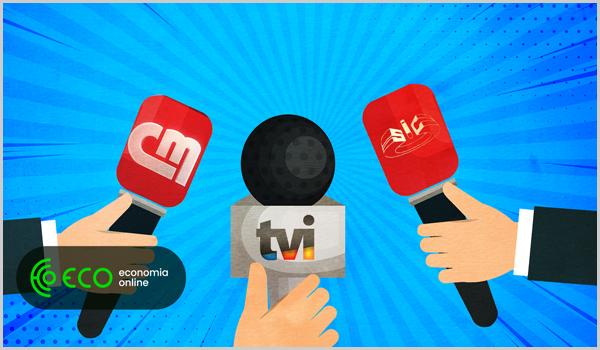 Microfones das estações televisivas