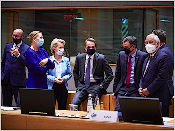 Líderes europeus na Cimeira da União Europeia