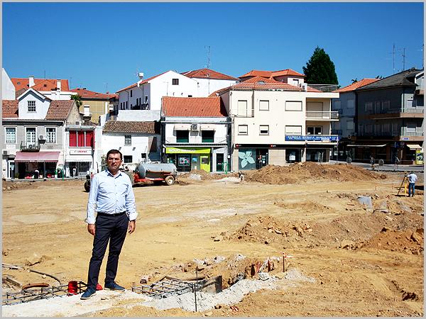 As obras de renovação do Largo da Fonte no Sabugal