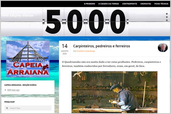 5000 dias com publicações diárias