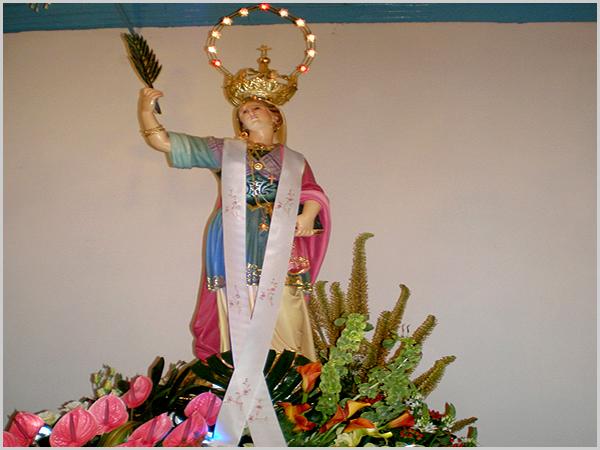 Imagem de Santa Eufêmia de Quadrazais no andor