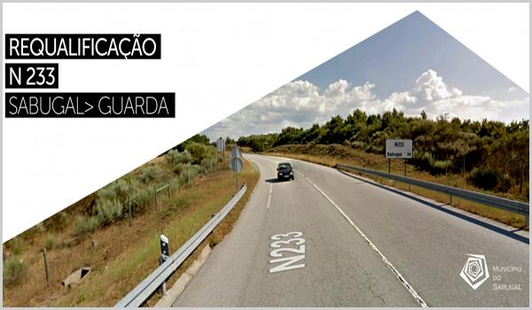 Obras de melhoramentos na EN23, a Estrada Nacional que liga o Sabugal à Guarda