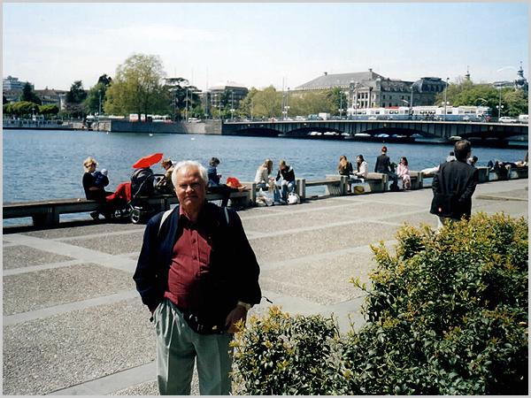 Franklim junto ao lago de Zurich