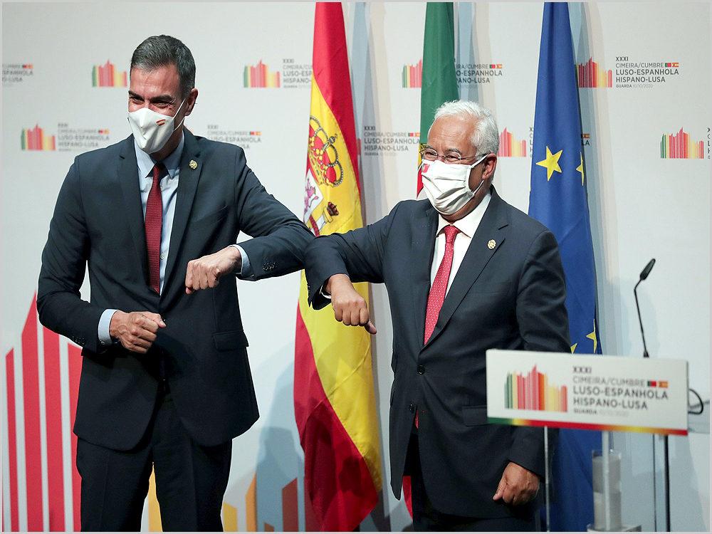 Pedro Sánchez e António Costa na Cimeira Luso-Espanhola na Guarda