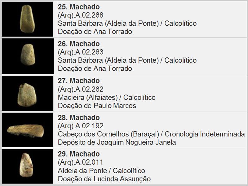 Cinco achados do período pré-histórico: 5 Machados