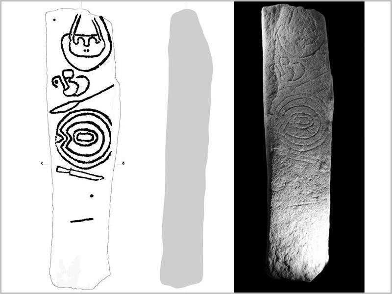 Homem de Pedra – Monólito-estela. Imagem copiada do estudo de Vilaça, Osório & Santos, 2011 - capeiaarraiana.pt