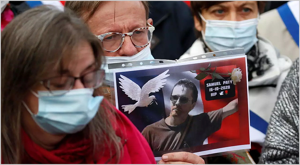 Manifestação por Samuel Paty