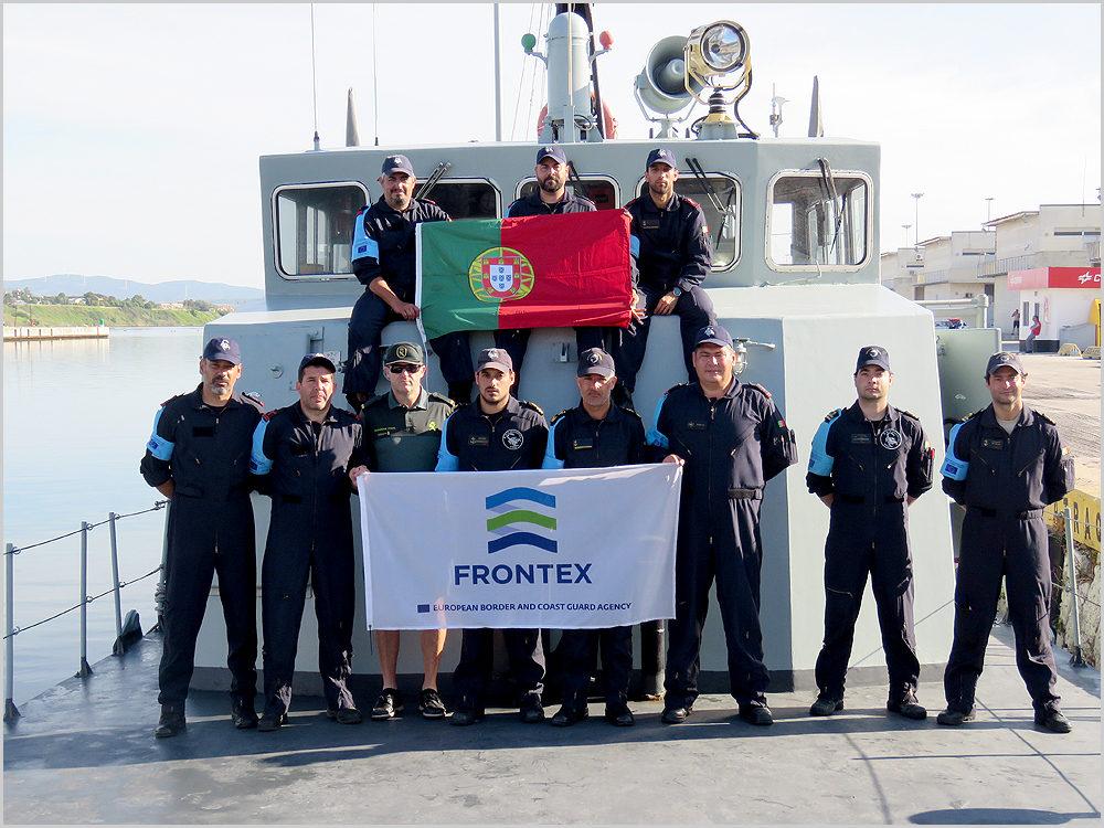 Militares portugueses integrados no Frontex (foto: Portal da Marinha)