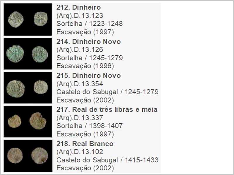 Cinco achados de moedas da Época Medieval (Reino de Portugal)