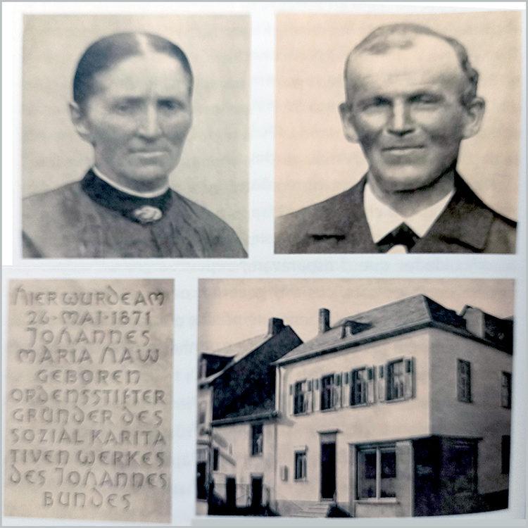 Os pais e a casa onde nasceu o padre João Maria Haw na cidade alemã Schweich
