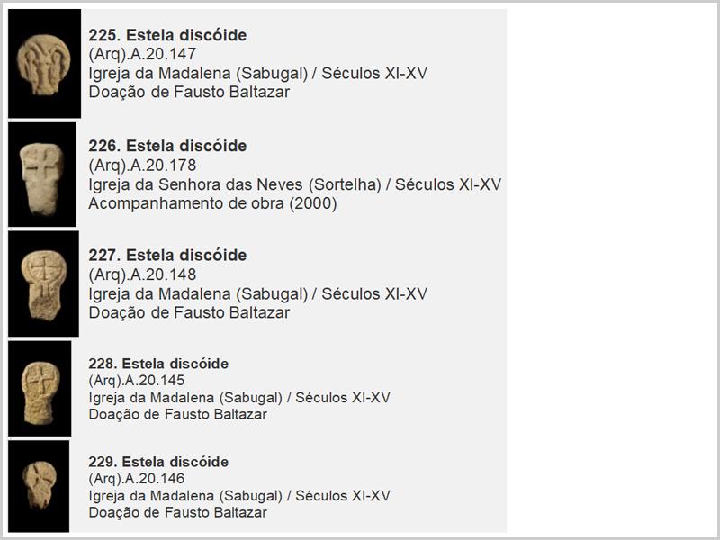 Cinco achados de estelas discoides da Época Medieval (Reino de Portugal)