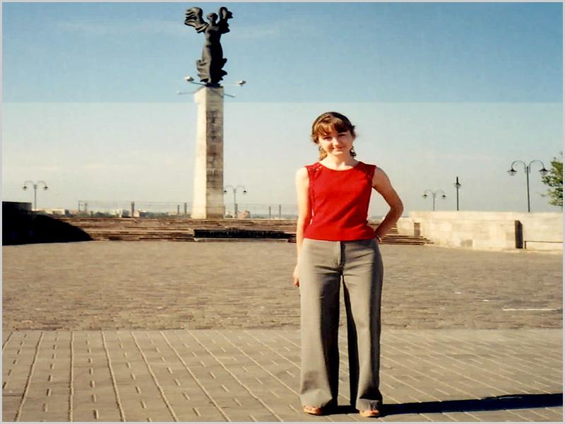 A Ira (Irina) minha guia em Mogilev