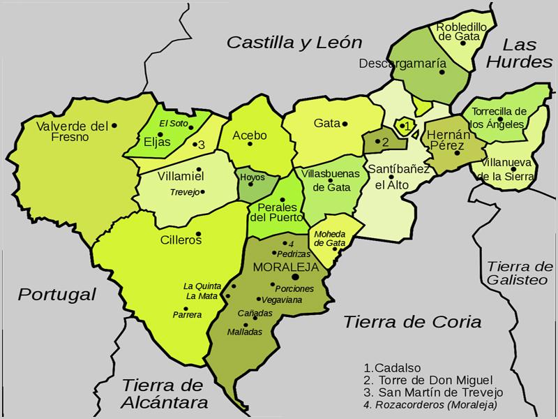 Mapa da Raia sabugalense com Castilla y Léon