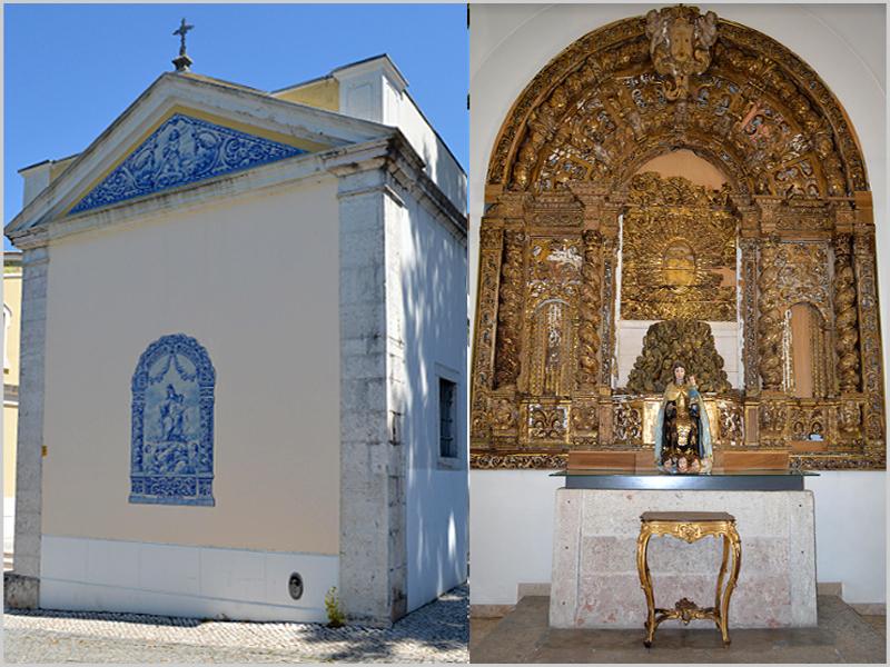A capela e o altar de Nossa Senhora do Monte do Carmo em Odivelas