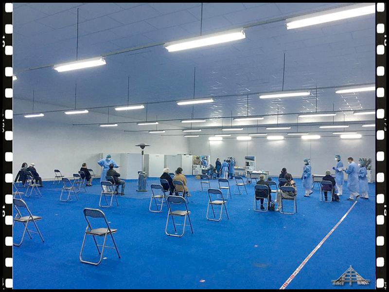 Primeiro dia no Centro de Vacinação Covid-19 na Expo Sabugal