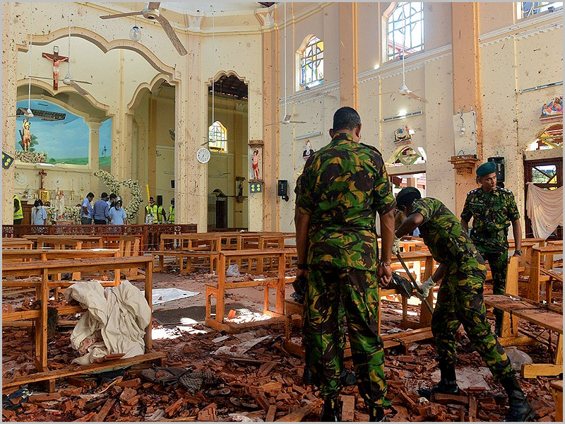 Ataque a uma igreja no Sri Lanka
