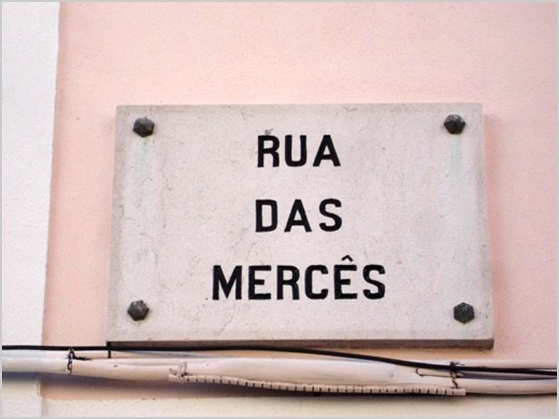 Rua das Mercês, na Ajuda, em Lisboa