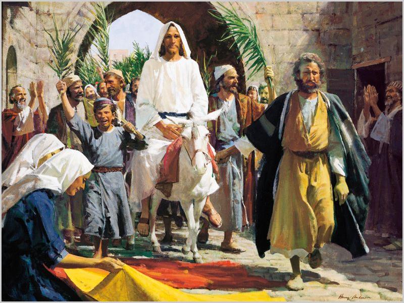Entrada triunfal de Jesus Cristo em Jerusalém no domingo anterior à Páscoa