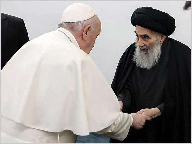 Encontro do Papa com o Aiatola Al-Sistani