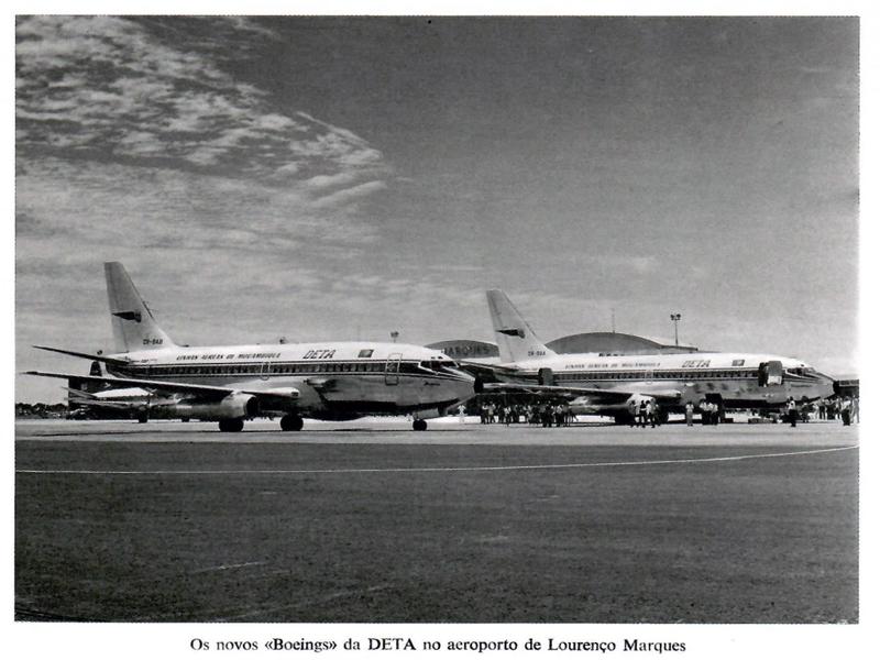 Os Boeings 737 da DETA-Tansportes Aéreos de Moçambique