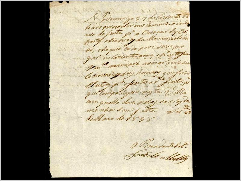 Carta do padre João da Mata