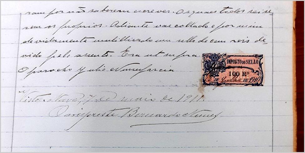 Casamento em Ruivós com imposto de selo da Monarquia