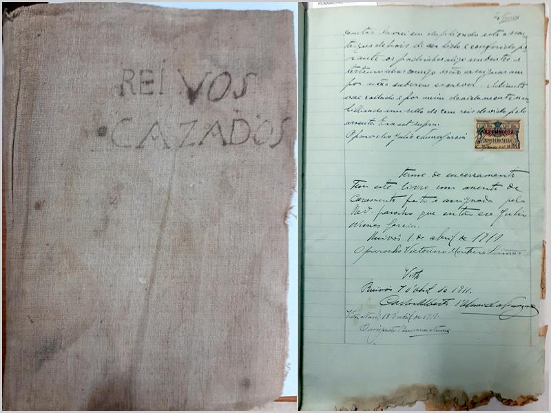 Arquivo Distrital da Guarda, Livro dos Registos de Casamentos de Ruivós de 1911, Página de encerramento em 1 de Abril de 1911