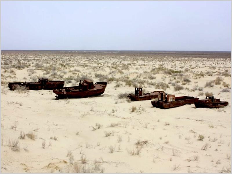Mar de Aral transformou-se em deserto de Aral