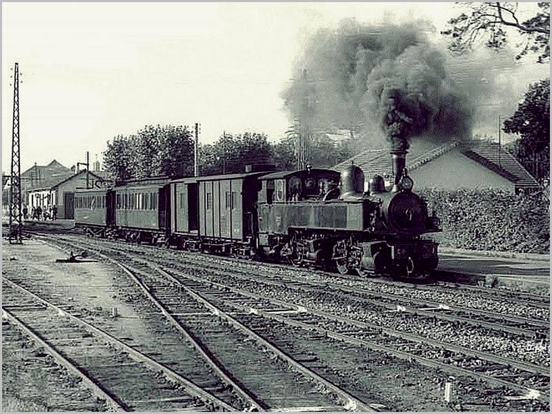 Comboio com máquina a carvão