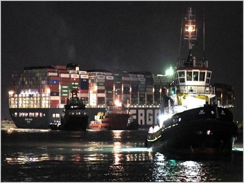 Cargueiro Ever Given entupiu o Canal de Suez por uma semana