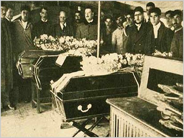 Funerais durante a pandemia da Gripe Espanhola