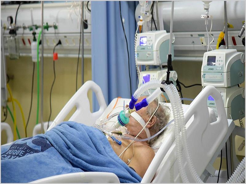 Doente com Covid-19 entubado nos Cuidados Intensivos