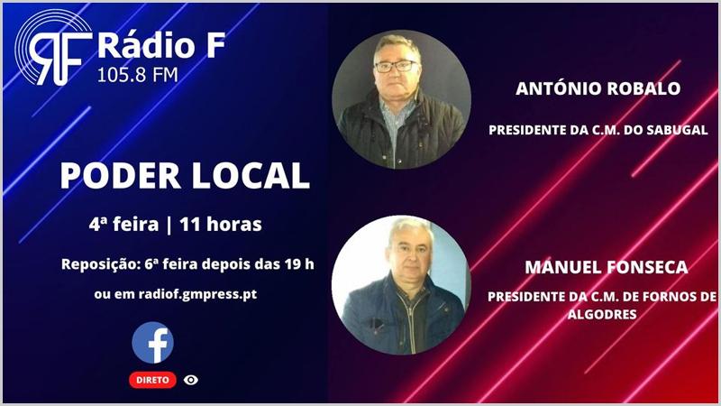 «Poder Local» na Rádio F com António Robalo e Manuel Fonseca