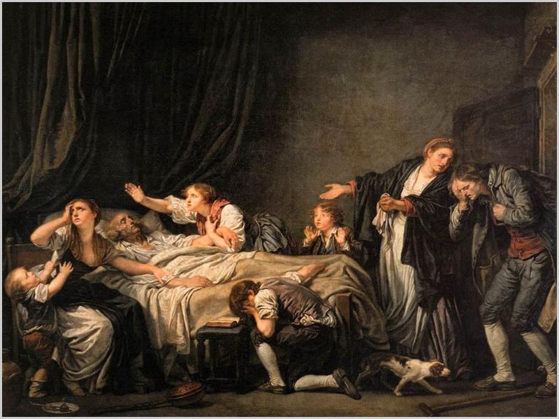 Pintura de Jean-Baptiste Greuze (Louvre-Paris)