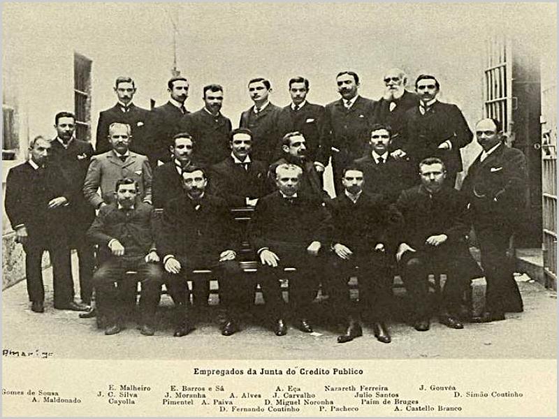 Empregados da Junta de Crédito público em 1903