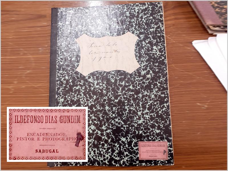 Arquivo Distrital da Guarda, Livro de Registos de Casamentos de Penalobo com Vinheta da tipografia Ildefonso Dias Gundim