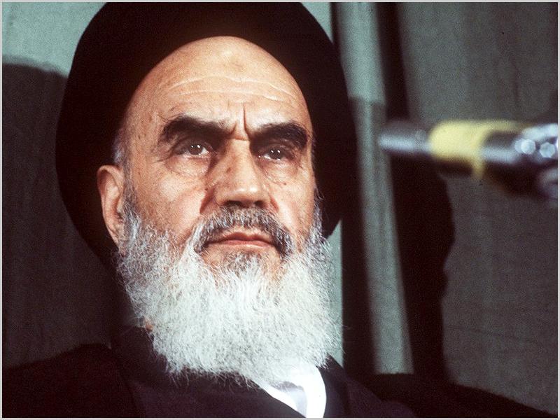 Aiatola Khomeiny foi o líder religioso da República Islâmica do Irão