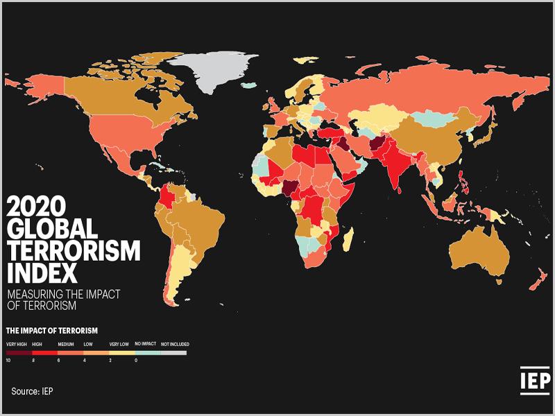 Mapa do Terrorismo Global