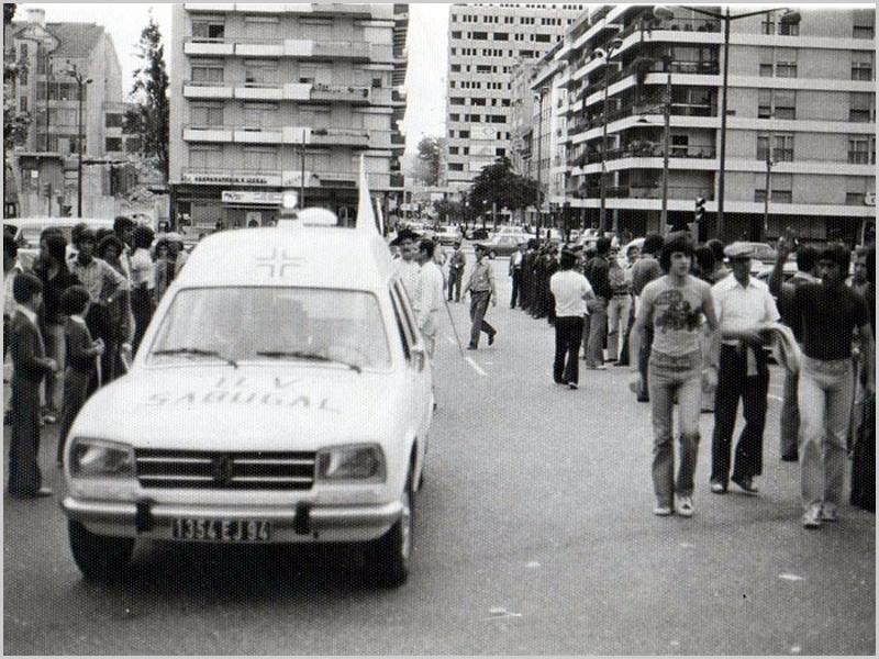 Bombeiros Volutários do Sabugal no desfile da primeira Capeia Arraiana da Casa do Concelho do Sabugal no Campo Pequeno